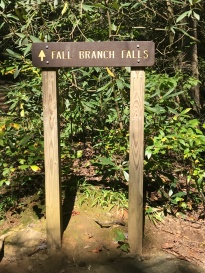 Fall Branch Falls Marker