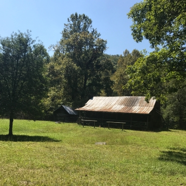 Cabin with hitching posts in Blue Ridge